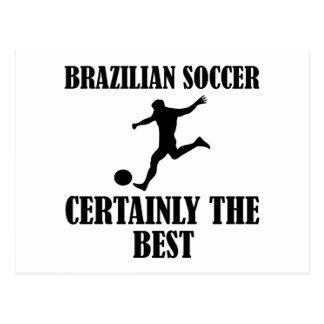 diseños brasileños frescos del fútbol postales