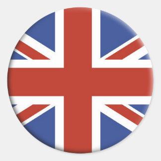 Diseños BRITÁNICOS del círculo de la bandera de Etiqueta Redonda