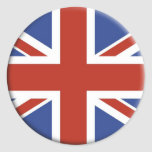 Diseños BRITÁNICOS del círculo de la bandera de Un Etiqueta Redonda