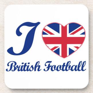 Diseños británicos del fútbol posavasos de bebidas