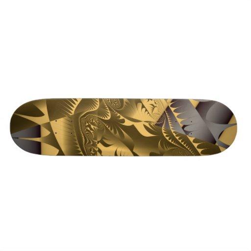 Diseños calientes de Frac de Leslie Harlow - oro Patinetas Personalizadas