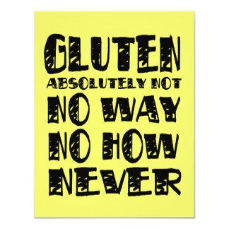 """Diseños celiacos libres del gluten ninguna manera invitación 4.25"""" x 5.5"""""""