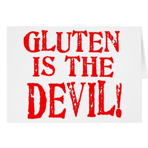 Diseños celiacos libres del gluten ninguna manera tarjeta de felicitación