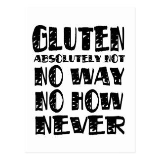 Diseños celiacos libres del gluten ninguna manera postales