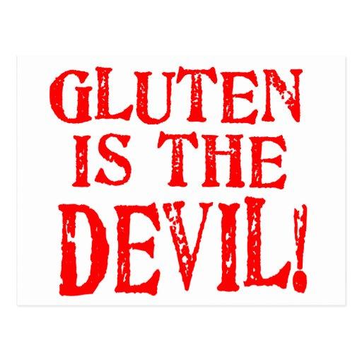 Diseños celiacos libres del gluten ninguna manera tarjetas postales