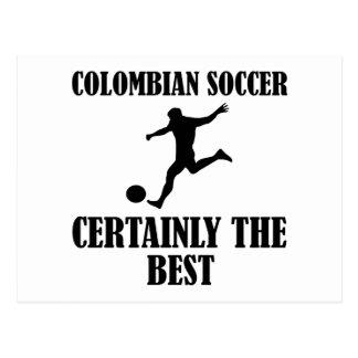 diseños colombianos frescos del fútbol tarjetas postales