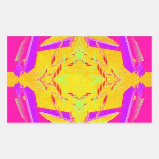Diseños coloridos del extremo por CricketDiane Pegatina Rectangular