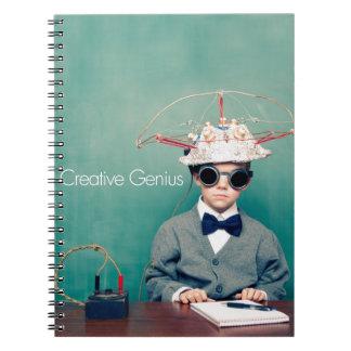 Diseños creativos del genio libro de apuntes con espiral