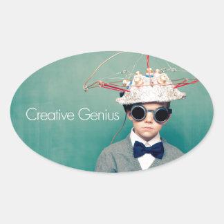 Diseños creativos del genio calcomanía de ovaladas