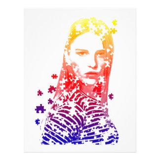 Diseños creativos personalizados del retrato de la plantilla de membrete