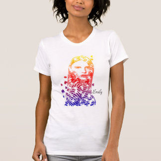 Diseños creativos personalizados del retrato de la remeras