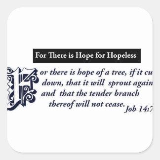 diseños cristianos de la esperanza pegatina cuadrada