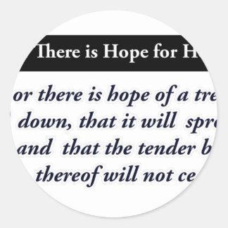 diseños cristianos de la esperanza pegatina redonda
