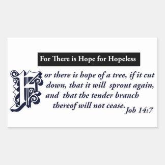 diseños cristianos de la esperanza pegatina rectangular