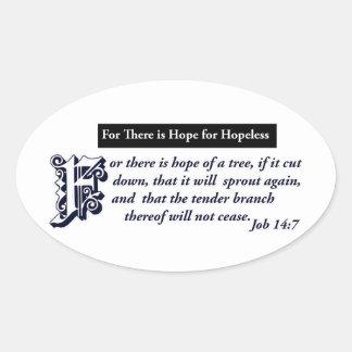 diseños cristianos de la esperanza pegatina ovalada