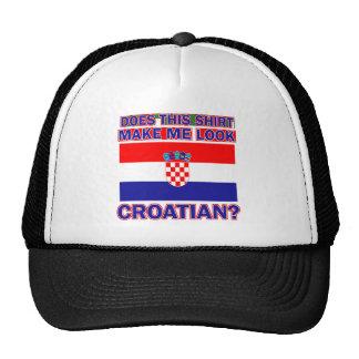 Diseños croatas de la camisa gorros