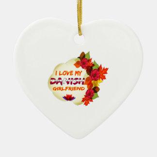 Diseños daneses de la novia adorno de cerámica en forma de corazón