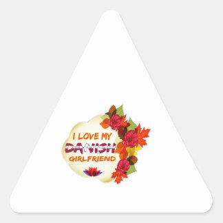 Diseños daneses de la novia calcomanías de triangulos personalizadas