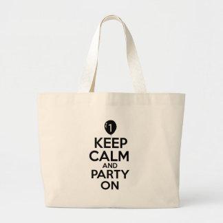 Diseños de 1 año del fiesta bolsa de mano