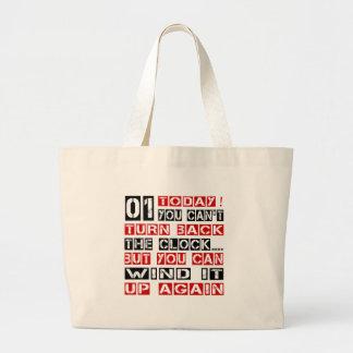 Diseños de 1 cumpleaños bolsa tela grande