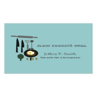Diseños de abastecimiento del cocinero de las tarjetas de visita