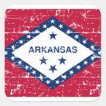 Diseños de Arkansas Pegatina Cuadrada
