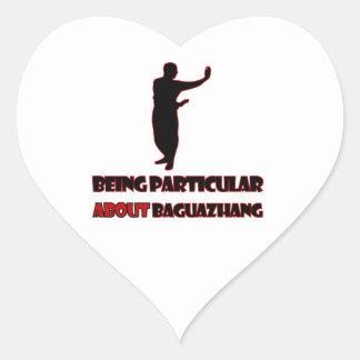 Diseños de Baguazhang Pegatina En Forma De Corazón