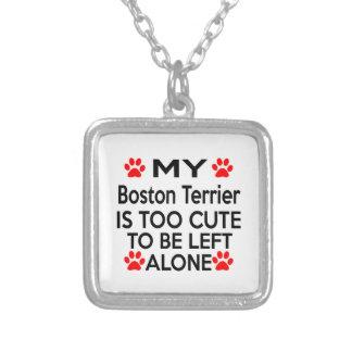 Diseños de Boston Terrier Colgante Cuadrado