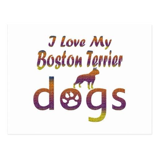 Diseños de Boston Terrier Postal