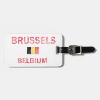 Diseños de Bruselas Bélgica Etiqueta Para Maleta
