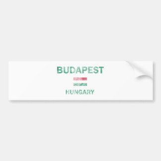 Diseños de Budapest Hungría Etiqueta De Parachoque