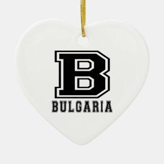 Diseños de Bulgaria Adorno De Cerámica En Forma De Corazón