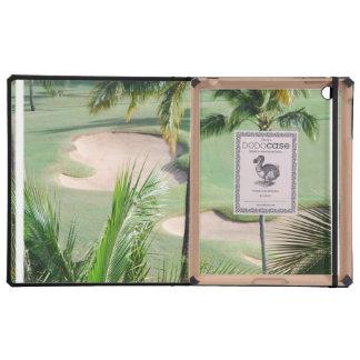 Diseños de campo de golf iPad protector