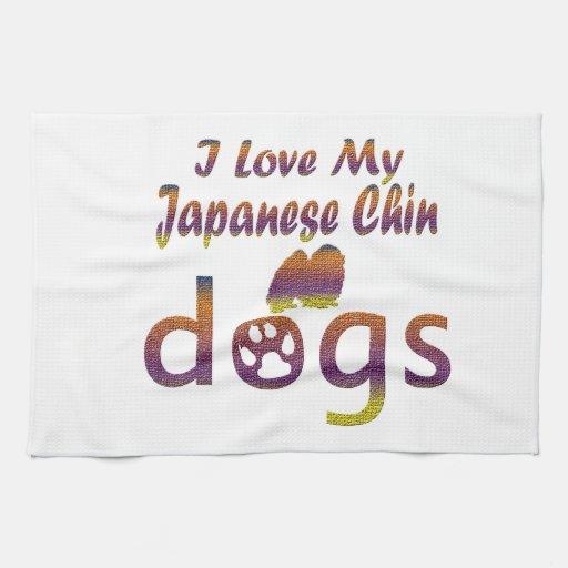 Diseños de Chin del japonés Toallas