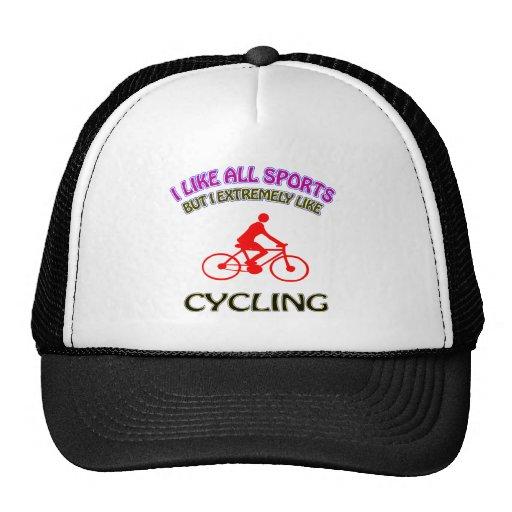 Diseños de ciclo gorros bordados