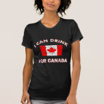 Diseños de consumición frescos de Canadá Camiseta