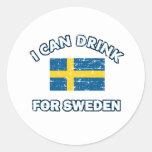 Diseños de consumición frescos de Suecia Pegatina Redonda