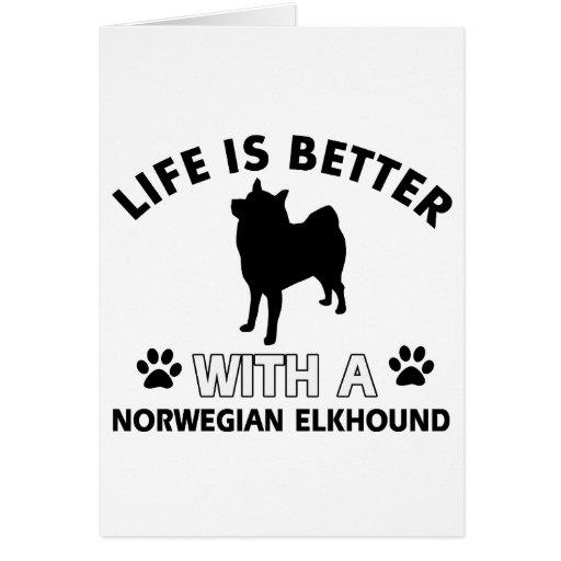 Diseños de Elkhound del noruego Felicitación
