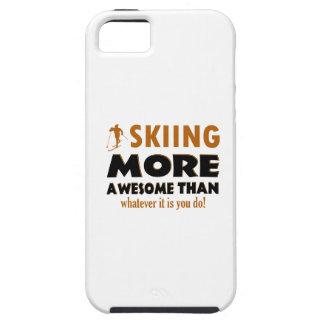 Diseños de esquí iPhone 5 funda