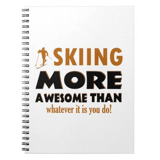 Diseños de esquí libreta espiral