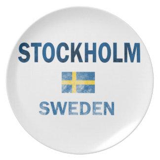 Diseños de Estocolmo Suecia Plato
