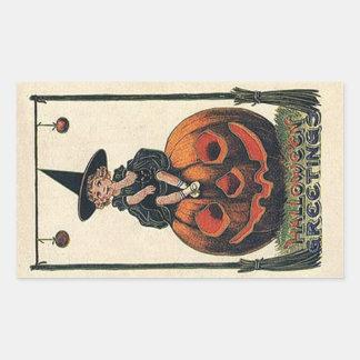 Diseños de Halloween de la bruja del vintage Pegatinas