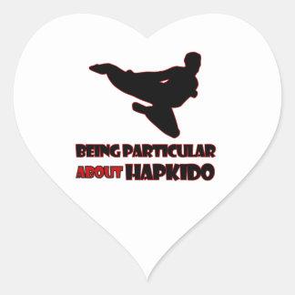 Diseños de Hapkido Pegatina En Forma De Corazón