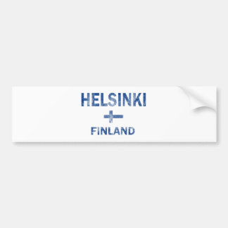 Diseños de Helsinki Finlandia Pegatina De Parachoque
