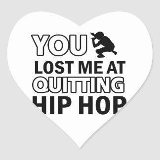 Diseños de Hip Hop Pegatinas Corazon
