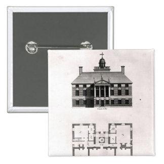 Diseños de Inigo Jones, 1727 Pin Cuadrada 5 Cm