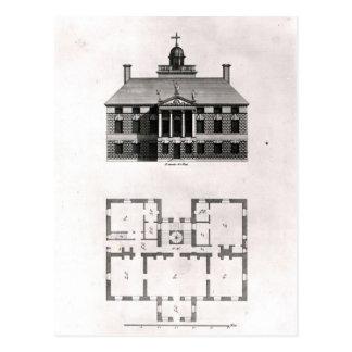Diseños de Inigo Jones, 1727 Postal
