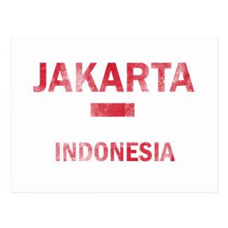 Diseños de Jakarta Indonesia Tarjetas Postales