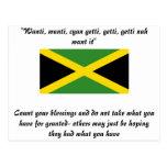 Diseños de Jamaica Tarjeta Postal