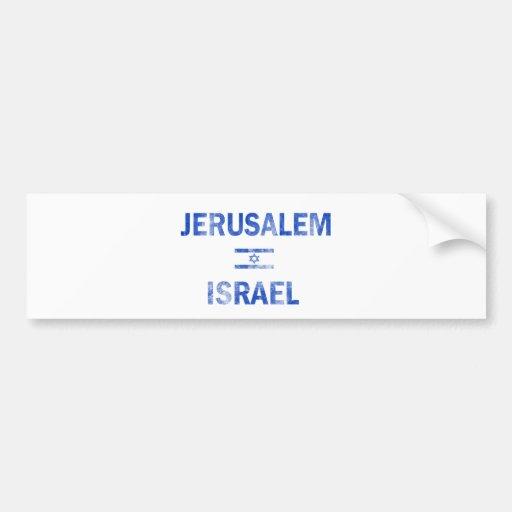 Diseños de Jerusalén Israel Pegatina Para Auto